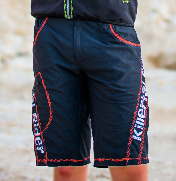 Bike Shorts Baggy Killertal Rider®, schwarz-rot